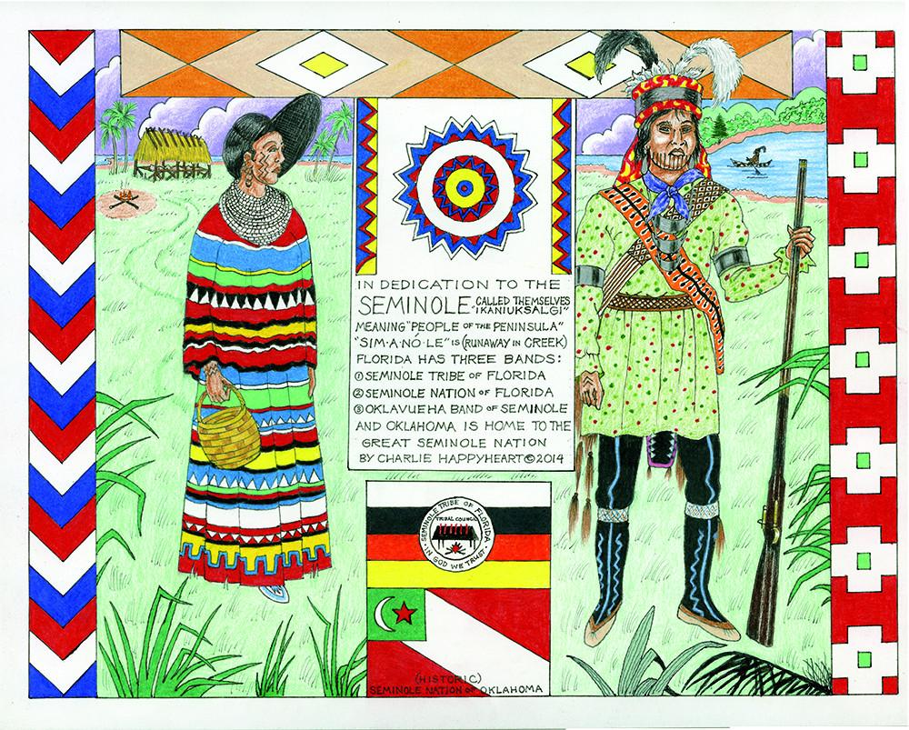Seminole Indian Print