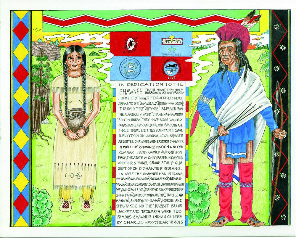 Shawnee Indian Print