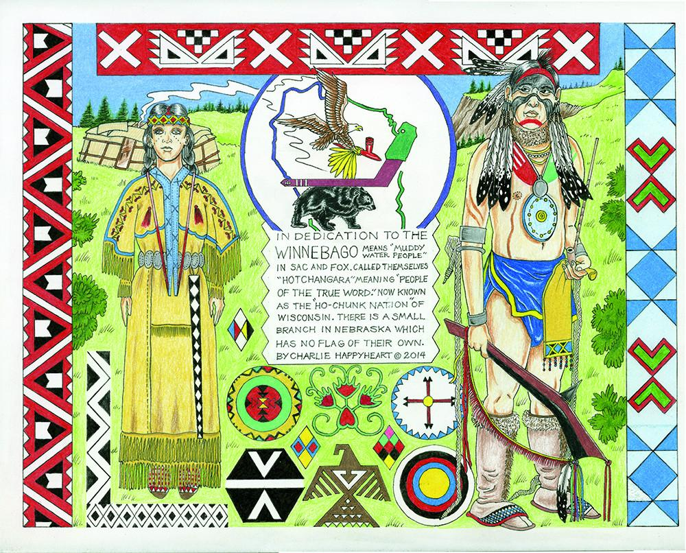 Winnebago Indian Print