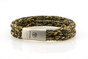 Maritime design. Mens rope bracelets by NEPTN. Magnetic clasp with Anchor engraving