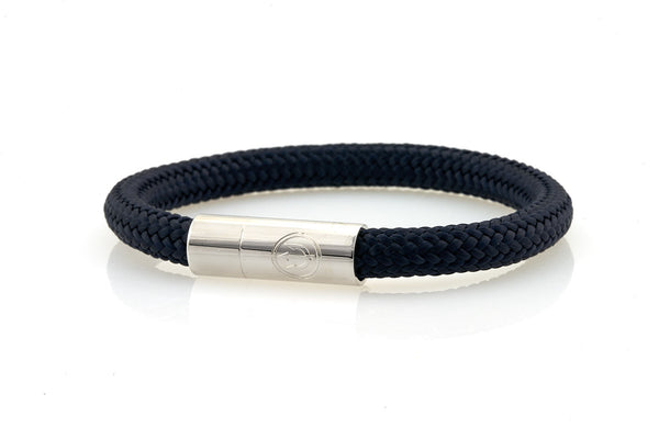 neptn men's bracelet navigator anchor 7mm navy rope. nautical bracelet. maritime design.