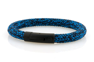 neptn men's bracelet sailor anchor black ocean blue rope. nautical bracelet. maritime design.