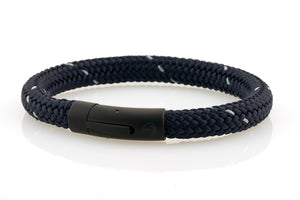 neptn men's bracelet sailor anchor black navy star rope. nautical bracelet. maritime design.