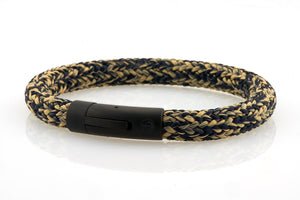neptn men's bracelet sailor anchor black navy sand rope. nautical bracelet. maritime design.