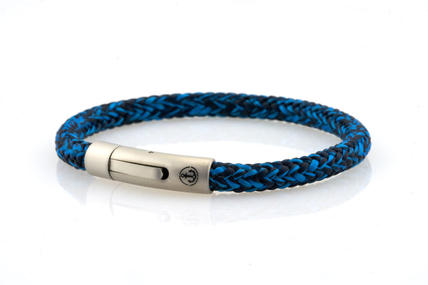 neptn men's bracelet sailor anchor steel ocean navy rope. nautical bracelet. maritime design.