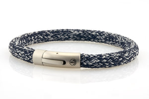 neptn men's bracelet sailor anchor steel denim blue rope. nautical style bracelet