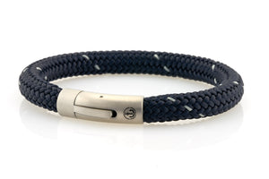 neptn men's bracelet sailor anchor steel navy star rope. nautical style bracelet