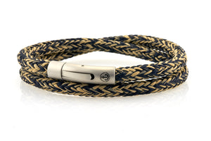neptn men's bracelet sailor double anchor steel navy sand rope. nautical bracelet. maritime design.