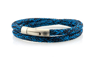 neptn men's bracelet sailor trident steel ocean navy rope double 6mm
