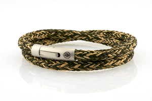 neptn men's bracelet sailor trident steel kelp rope double 6mm