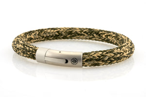 neptn men's bracelet sailor trident steel kelp rope 8mm