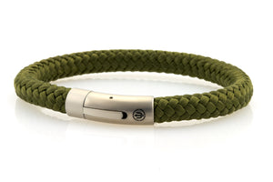 neptn men's bracelet sailor trident steel seagrass rope 8mm