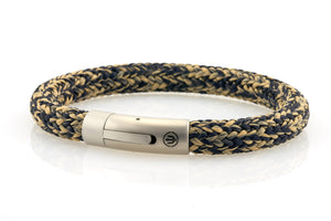 neptn men's bracelet sailor trident steel navy sand rope 8mm