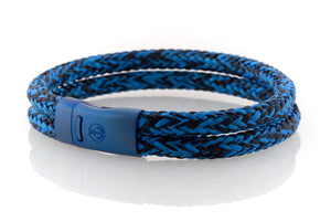 Maritime design. Mens bracelets by NEPTN. Magnetic blue clasp with Anchor engraving