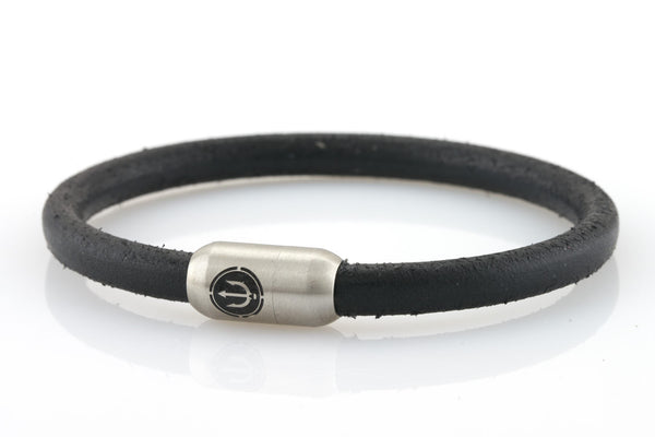bracelet-man-Boatswain-6-Neptn-Leather-Trident-Steel-black