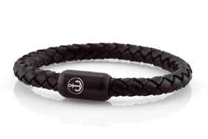 bracelet-man-Boatswain-8-Neptn-Leather-anchor-Black-Black