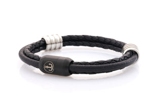 Neptn-Bracelet-Man-Captn-Anchor-Lava-R-Black