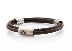 Neptn-Bracelet-Man-Captn-Anchor-Steel-Ring-Brown-Leather