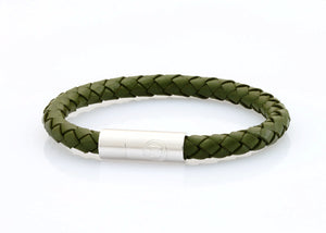 neptn men's bracelet navigator trident 7mm seagrass leather. nautical bracelet. maritime design.