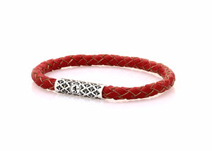 neptn women bracelet DIANA Lotus Neptn Rhodium 5 red leather