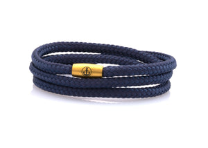 neptn women bracelet JUNO Anchor Gold Triple 4 ocean rope