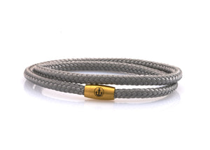 neptn women bracelet JUNO Anchor Gold double 4 silver rope