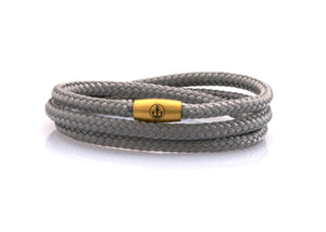 neptn women bracelet JUNO Anchor Gold Triple 4 silver rope