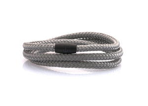 neptn women bracelet JUNO Anchor black Triple 4 silver rope