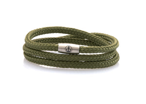 neptn women bracelet JUNO Anchor Steel Triple 4 laurel rope