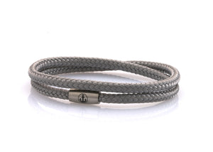 neptn women bracelet JUNO Anchor Steel double 4 silver rope