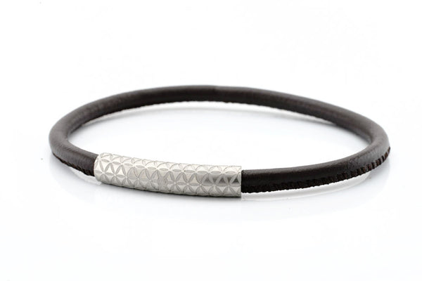 neptn women bracelet MINERVA F.O.L. silver brown nappa leather