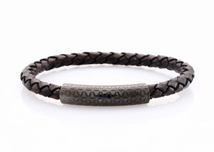 neptn women bracelet MINERVA F.O.L. Lava single 6 dark brown leather