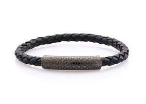 neptn women bracelet MINERVA F.O.L. Lava single 6 black leather
