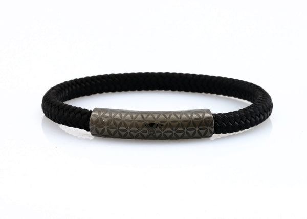 neptn women bracelet MINERVA F.O.L. Lava single 6 black rope