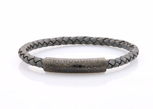 neptn women bracelet MINERVA F.O.L. Lava single 6 mineralgrey leather