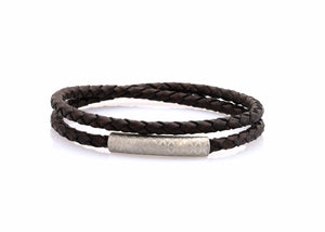 neptn women bracelet MINERVA F.O.L. silver double brown leather
