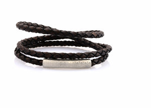 neptn women bracelet MINERVA F.O.L. 4 silver triple brown leather