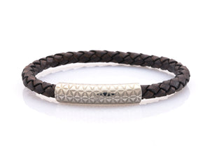 neptn women bracelet MINERVA F.O.L. 6 silver brown leather