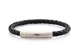 neptn women bracelet MINERVA F.O.L. 6 silver black leather