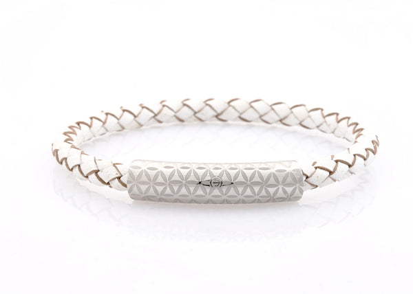neptn women bracelet MINERVA F.O.L. 6 silver white leather