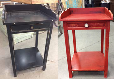 Little Red Side Table Makeover