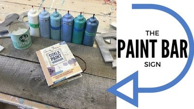 The PAINT BAR Sign