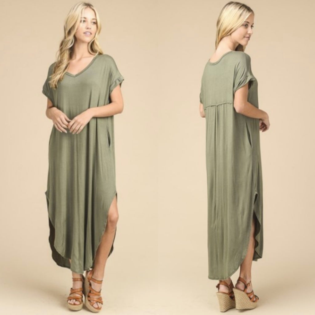 ab526aceb6 Cassie Oversized Maxi Dress in Sage – StyleZest