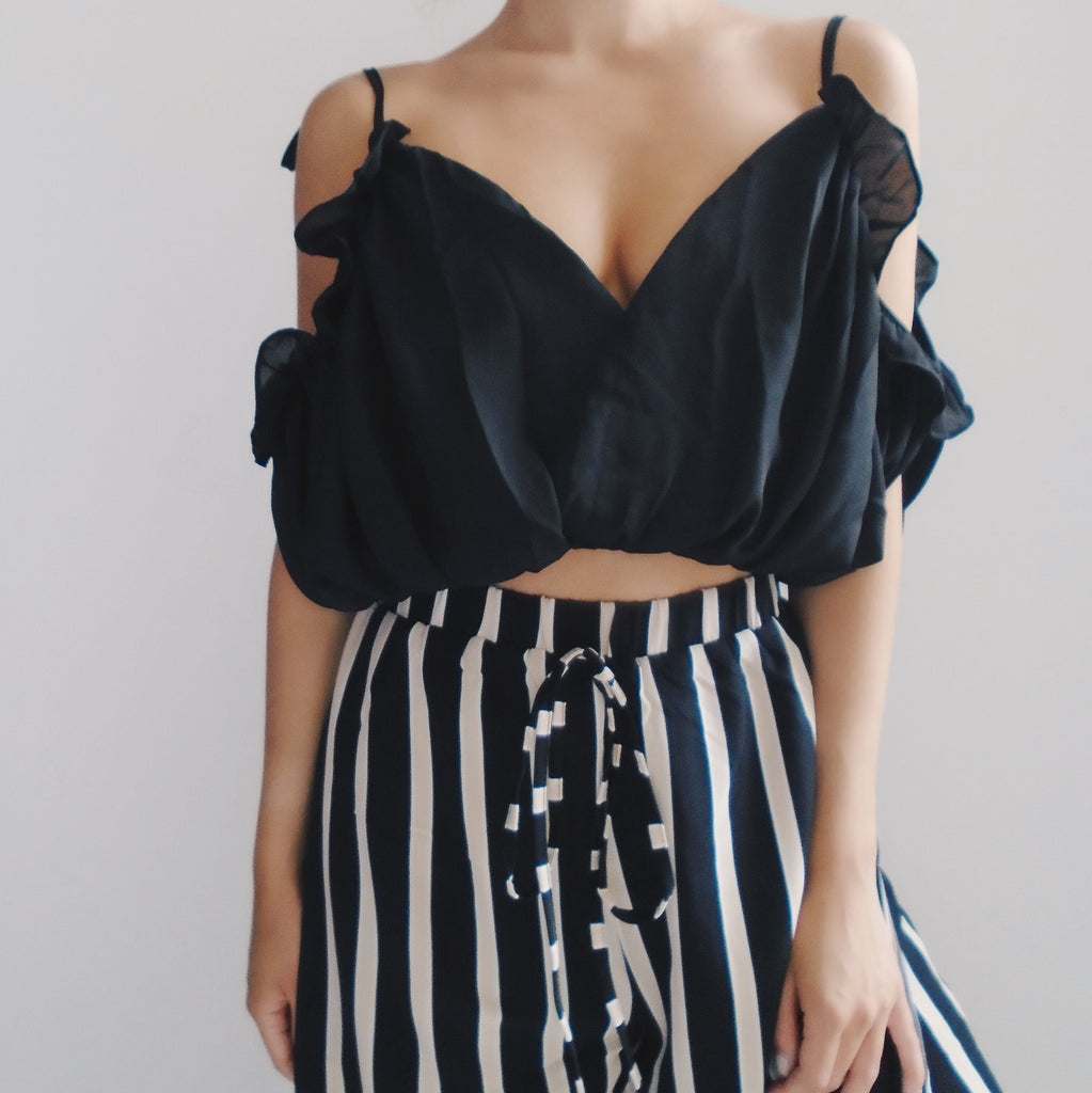 Diana Ruffled Crop Top
