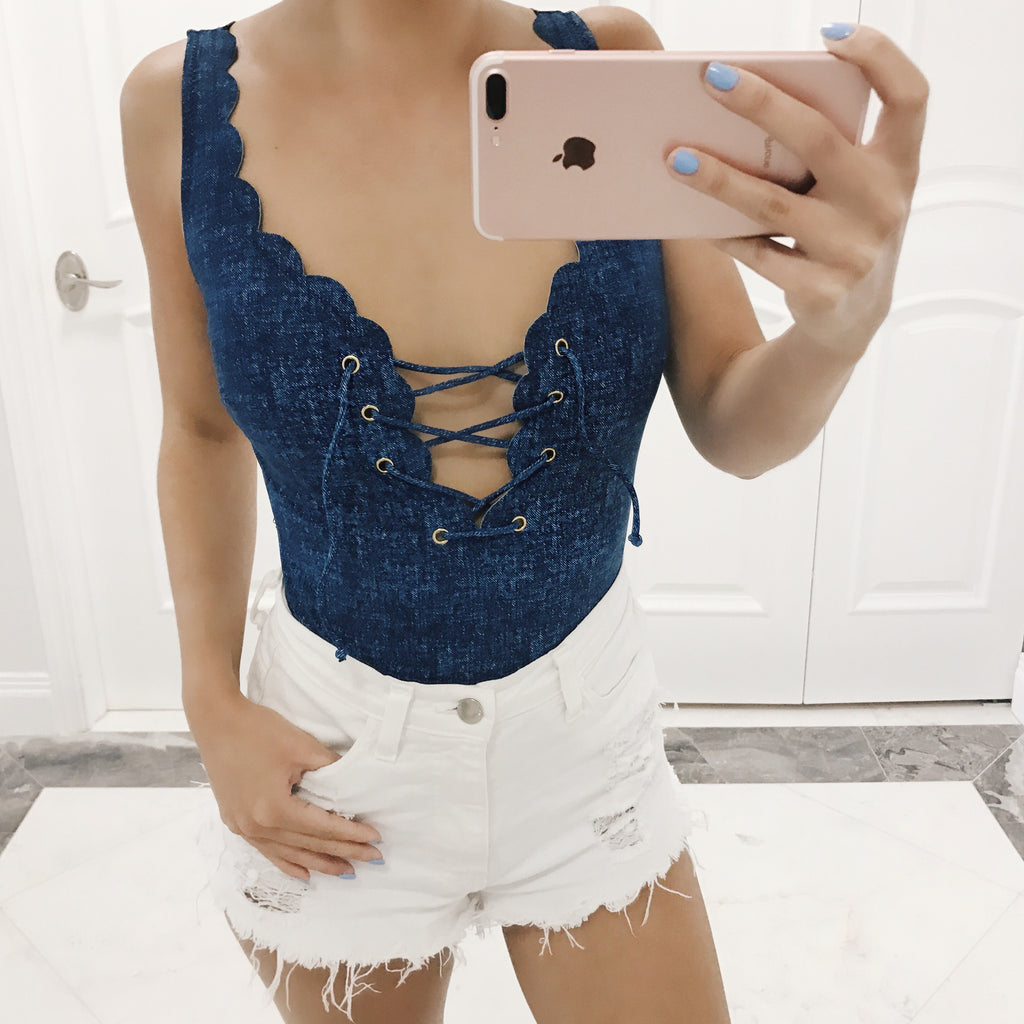 Ivy Denim One Piece / Bodysuit