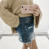 Jamie Denim Skirt