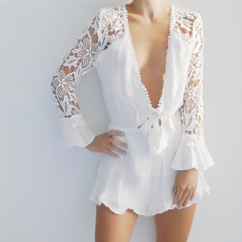 Melodie Lace Romper