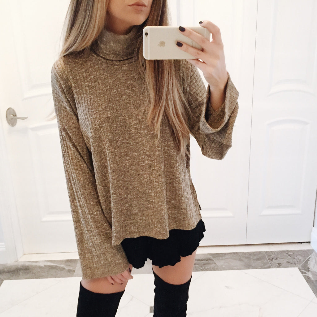 Sasha Bell Sleeve Turtleneck Sweater