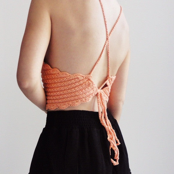 Sydney Crochet Halter Crop Top