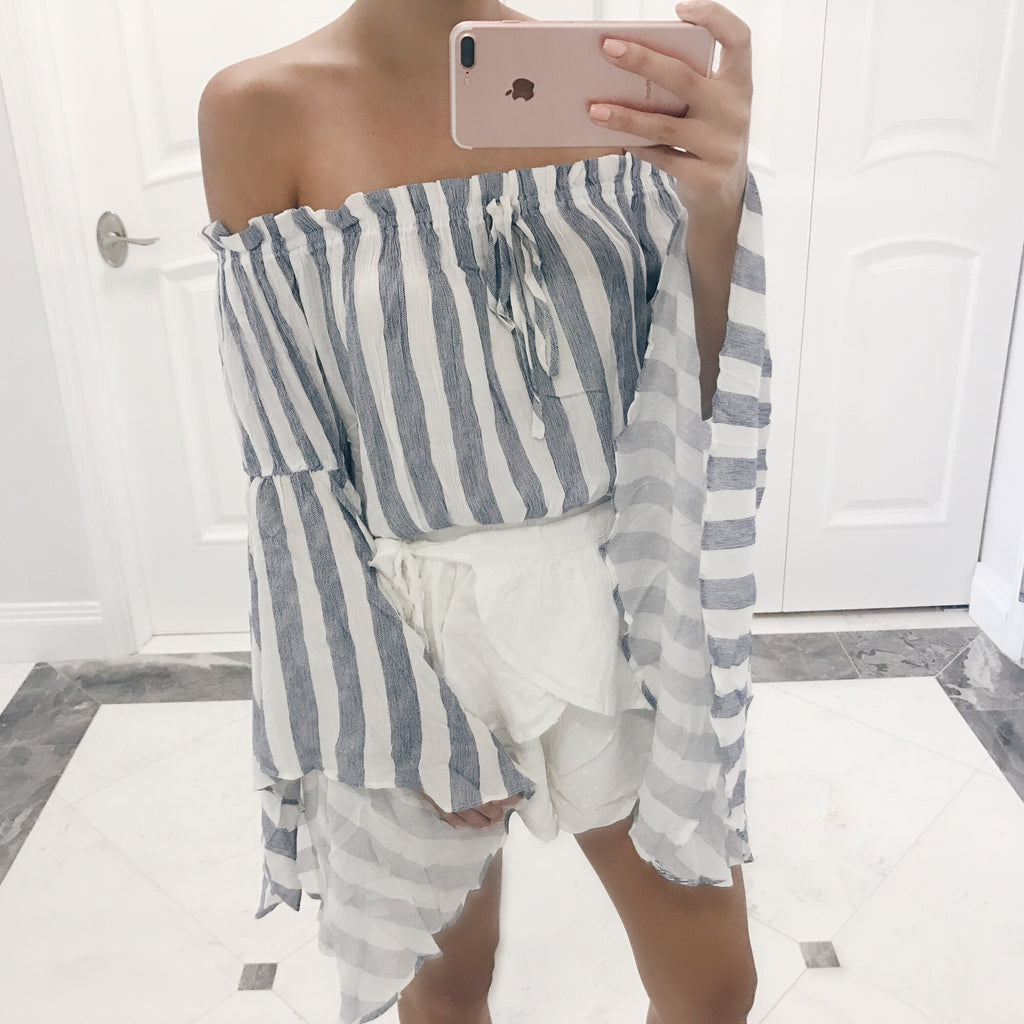 Talia Off The Shoulder Bell Sleeve Top
